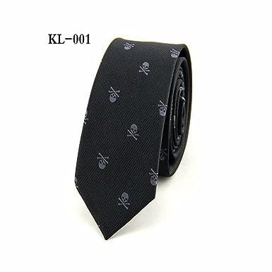 LVmm Hombres de la moda de trajes de corbata Jacquard cráneo 6cm ...