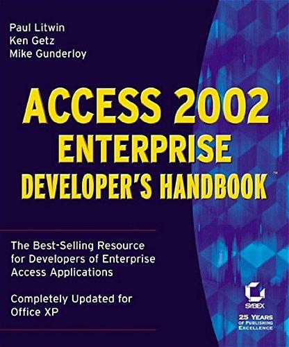 Access 2002 Enterprise Developer's Handbook(tm)