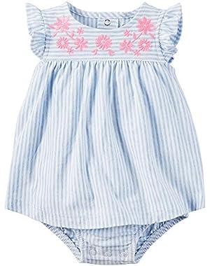Baby Girls' Stripe Skirted Bodysuit