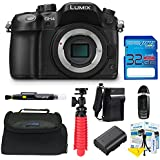Panasonic Lumix DMC-GH4 Mirrorless Micro Four Thirds Digital Camera (Body) + Pixi-Basic Accessories Bundle