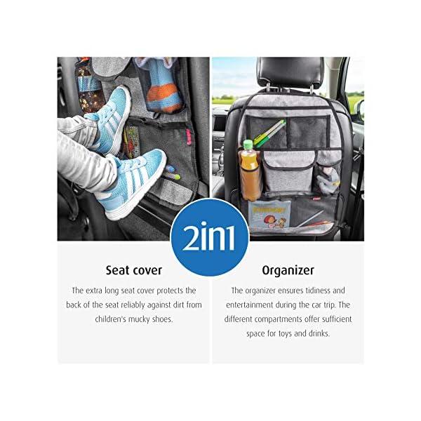 51upUbOzfPL reer Autorücksitz-Organizer TravelKid Tidy, schmutzabweisend, viele Taschen, für alle Autositze, auch Sportsitze, grau