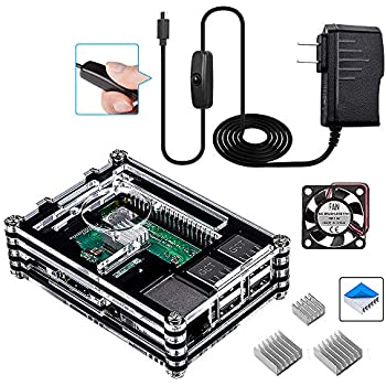 Amazon Com Smraza Raspberry Pi 3 B Case With Fan Heatsinks 5v