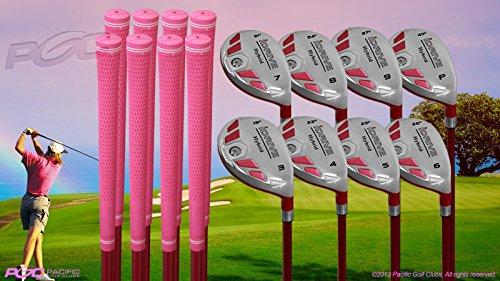 Senior Ladies iDrive Pink Golf Clubs All Hybrid Set