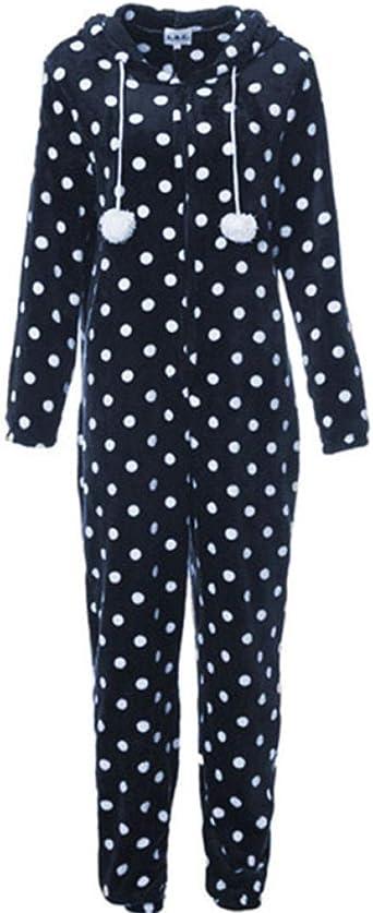Cordón Manchado Azul con Capucha Combinado Personas con Mangas Largas Adulto Suéter Siamés para Parejas con Impresión Franela Pijama