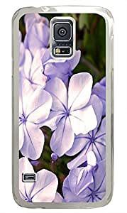 Samsung S5 case poetic Purple Flowers 4 PC Transparent Custom Samsung Galaxy S5 Case Cover