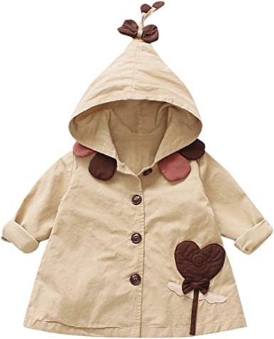 Toddler Kid Baby Girls Outerwear Jacket Hooded Coat 12M 18M