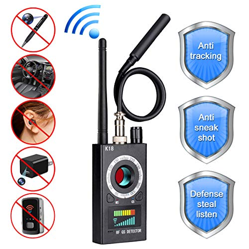 Bug Detector, G-TING RF Anti-Spy Wireless Detector,Hidden Camera Pinhole Laser Lens GSM Device Finder, Full-Range All-Round Portable Detector for Eavesdropping, Candid Video, GPS Tracker Laser ()