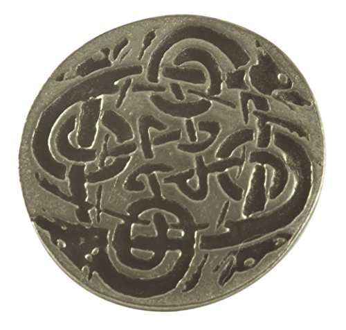Celtic Wolves Buttons - Pewter (Card of 4 Buttons)