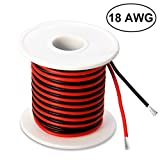 18 Gauge Silicone Wire 50 Feet [25 ft Black and 25 ft Red] - Ultra Soft and Flexible/High Temperature Resistant - 600V 18 AWG Silicone Rubber Wire with 150 Strands of Tinned Copper Wire by MILAPEAK