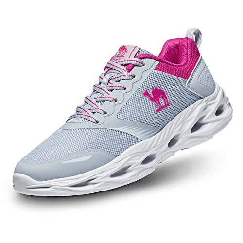 Camel Women's Trail Running Shoes, Lightweight Fashion Sports Athletic Sneakers for Gym Walking gray
