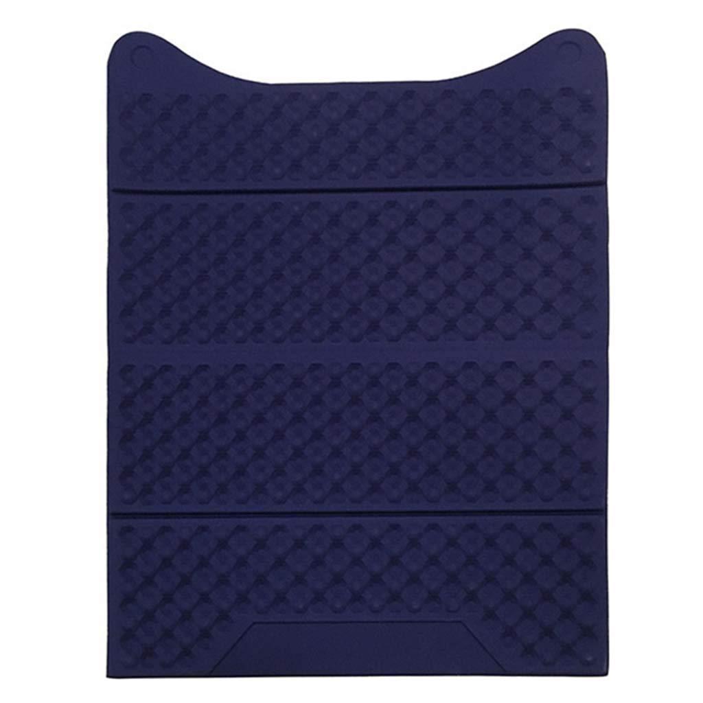 Cat Litter Mat, Foldable Cat Feeding Mat Waterproof Durable EVA Litter Box Mat Non-Toxic Easy Clean Cat Little Tray Pad,Navyblue
