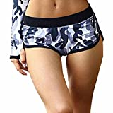AmyDong Women's Yoga Pants Short Camouflage Yoga Sweatpants Gym Pants Breathable Summer
