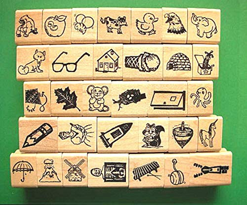 Quality Custom Rubber Stamps Alphabet/Phoni Carved Wooden Stamps