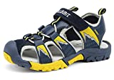 iDuoDuo Kids Contrast Color Closed Toe Athletic Outdoor Sandals Dark Blue 10 M US Toddler