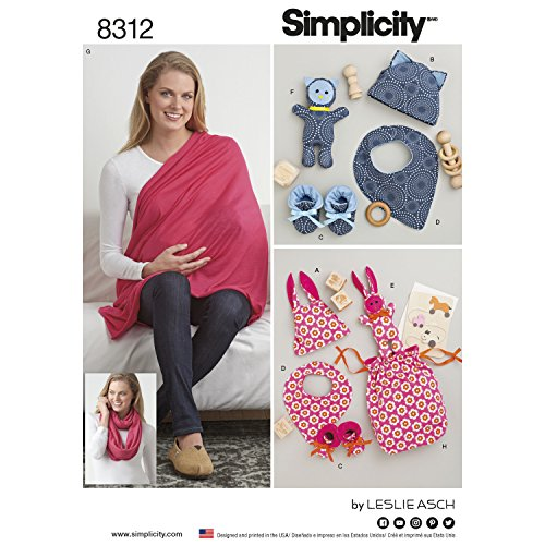 BABY GIFTS & NURSING SHAWL SEWING PATTERN (Baby Bootie Pattern)