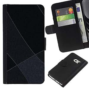 Planetar® Modelo colorido cuero carpeta tirón caso cubierta piel Holster Funda protección Para Samsung Galaxy S6 EDGE / SM-G925(NOT FOR S6!!!) / SM-G925(NOT FOR S6!!!) ( Gray Tones )
