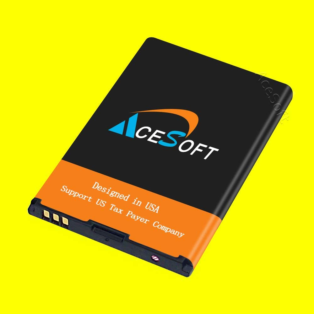 AceSoft High Power Extended Slim 1800mAh Excellent Replacement Battery for ZTE Cymbal-C LTE Z233VL Straight Talk//Tracfone//Net10//Total