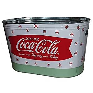 Amazon Com Retro Galvanized Tin Coca Cola Party Tub Drink