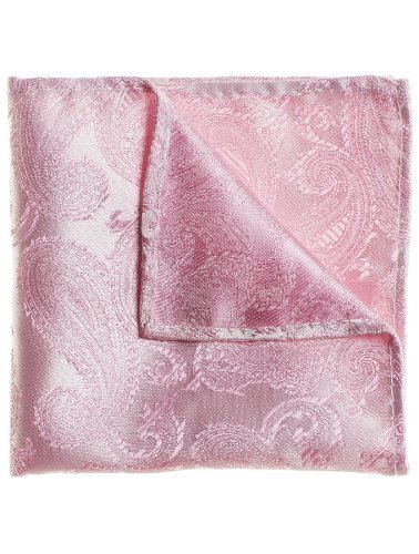 Paisley of London, Pink pocket square, Pocket handkerchief, Paisley pattern