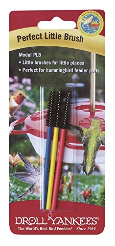 Droll Yankees Hummingbird Feeder Brush, Small Cleaning Brushes, Perfect Little Brush PLB, 3.5 Inches, 3 (Droll Yankees Hummingbird Feeder)