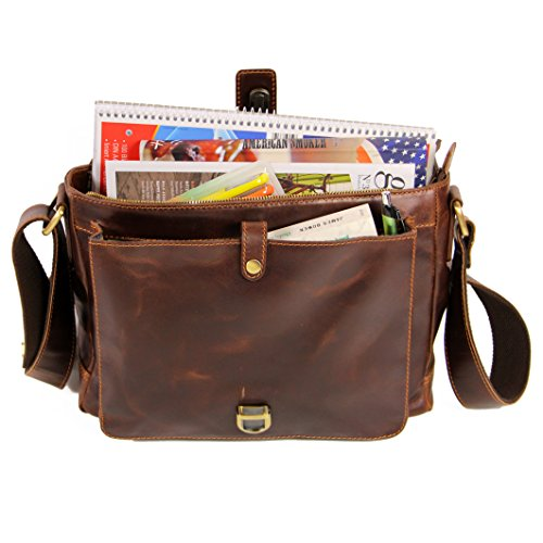 Courier Cross teacher JORDAN Uni Satchel Handmade Bag Leather Shoulder Laptop Messenger Bag Briefcase vintage Business Work Bag Genuine ALMADIH brown backpack Body School College Tote pFqBZB