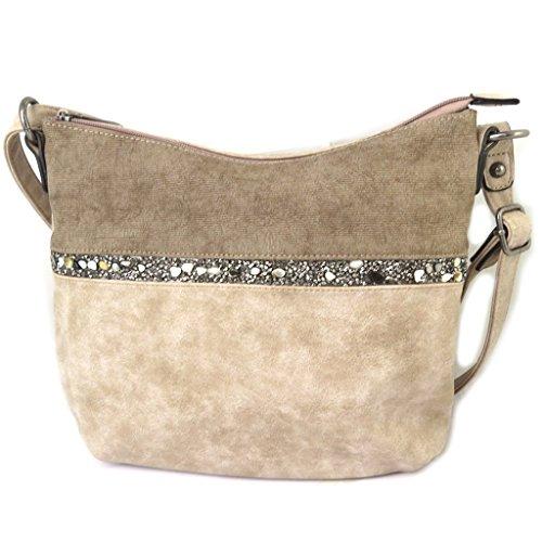 Bag designer Scarlettbeige tortora - 30x24x7.5 cm.