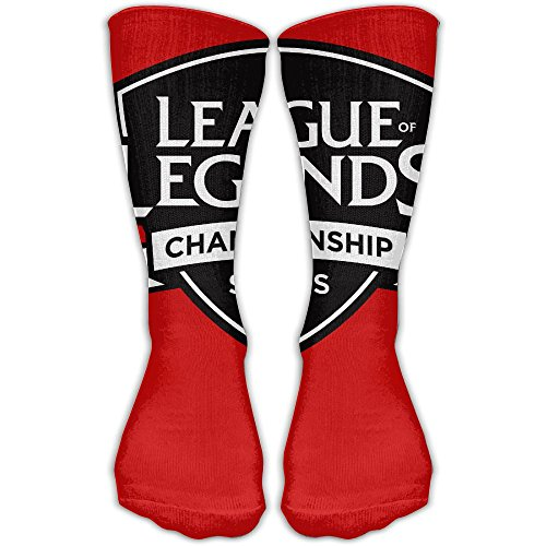 [League Of Legends Championships LOL Performance Crew Socks Protect Wrist For Cycling Moisture Control Unisex Elastic Socks 11.8inch] (Poro League Of Legends Costume)