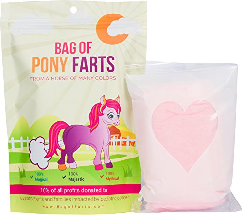 Bag of Pony Farts Cotton Candy Funny Unique Gift for Kids, Girls, Boys, Women, Men