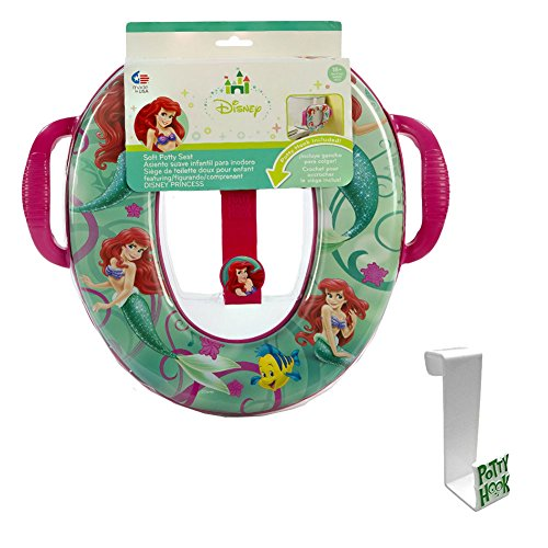Chair Little Potty (The Little Mermaid Soft Potty Seat with Toilet Tank Potty Hook)