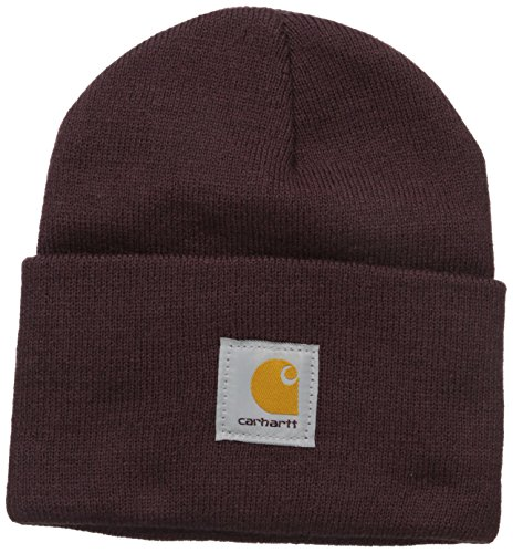 (Carhartt Women's Acrylic Rib Knit Watch Hat,   Deep Wine, One Size)