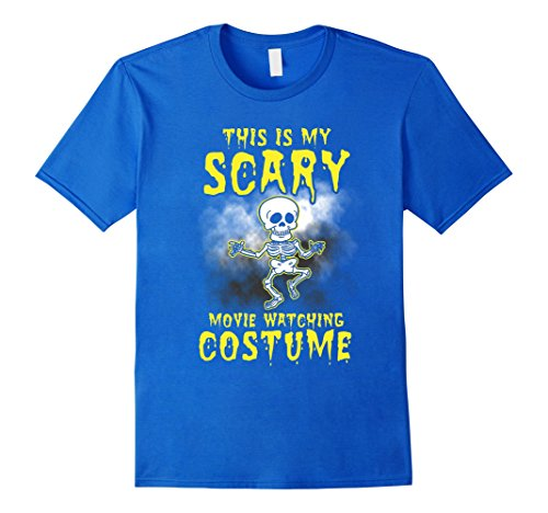 Mens This is My Scary Movie Watching Costume #halloween #scary 2XL Royal (Is Halloween A Scary Movie)