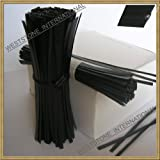 1000pcs 5''(12.7cm) Plastic Black Twist Ties