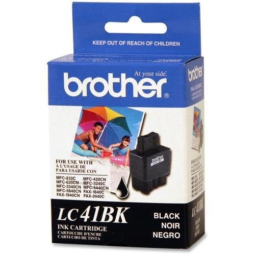 LC41BK Brother LC41BK Ink Cartridge - Black - Inkjet - 500 Page - 1 Each
