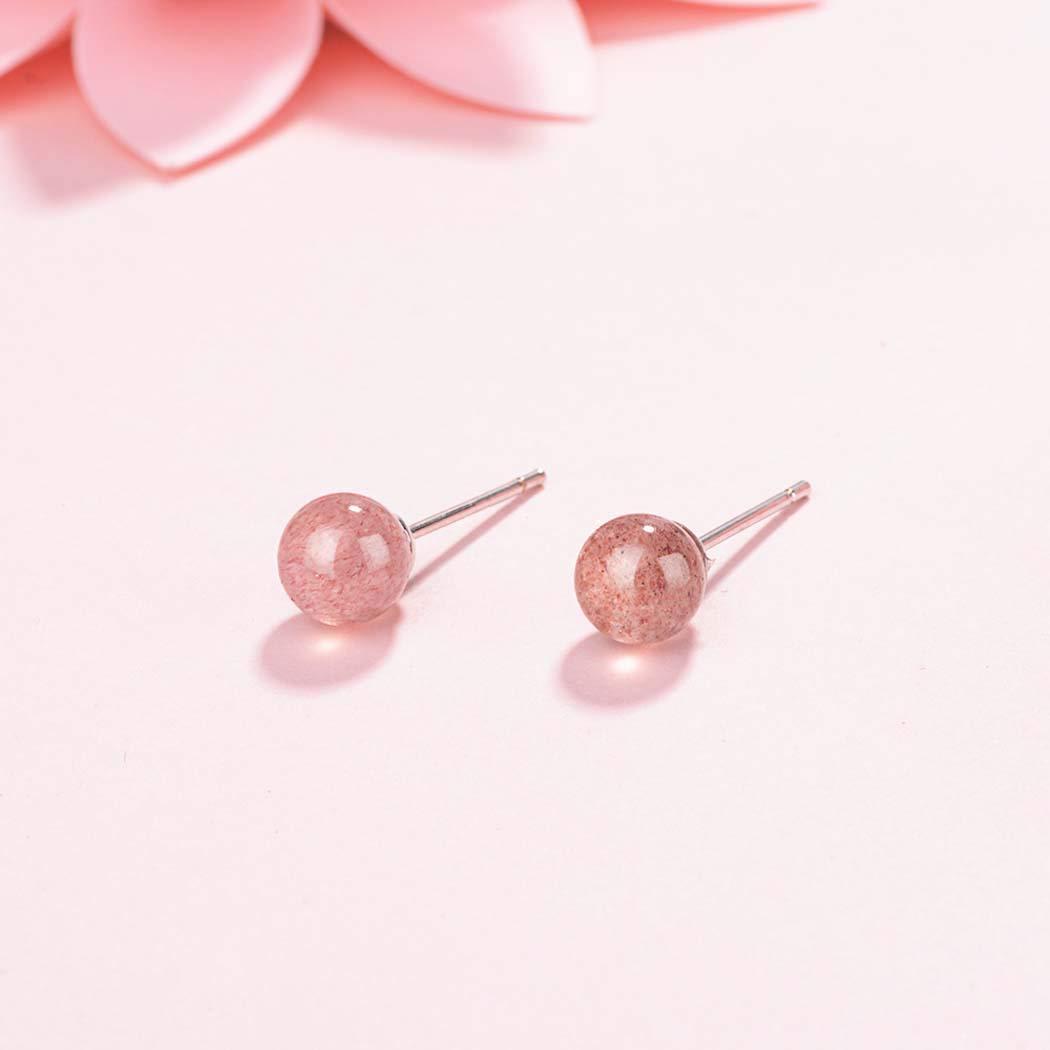 Girls Earrings Red Agate Earring Necklace Bracelet Jewelry Set Red Round Ball Crystal Long Dangling Earrings