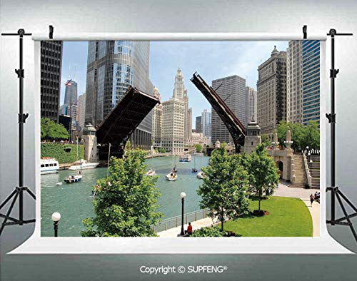 Background Downtown Chicago Illinois Finance Business Center Lake