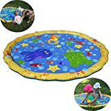 Autbye Sprinkle Splash Play Mat Enhanced PVC Eco-Friendly Material Splash Pad Baby Children Summer Play Beach Outdoor Garden Lawn Sprinkler Cushion (39(in) 100CM)