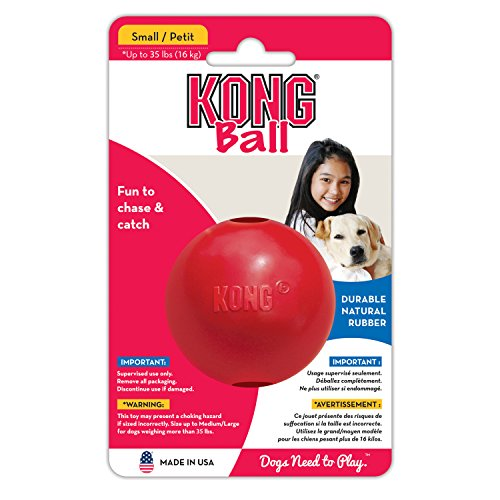 KONG Ball Dog Toy, Small, Red