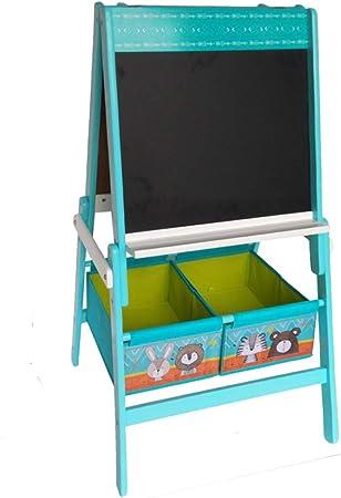 HS de Lighting Stand Pizarra infantil con 2 plástico Cajas Pizarra magnética + Papel de pizarra +, caballete de pizarra Pizarra |