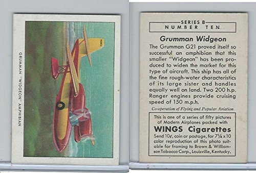 (T87 Wings Cigarettes, Series B, 1941, 10 Grumman Widgeon Airplane)