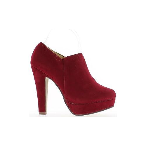 Botas Baja a roja Mujer en Tacones de 12cm y 3cm de la Placa - 39 ...