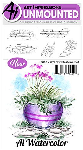 Art Impressions 5018 Watercolor Cling Rubber Stamps, Multicolor by Art Impressions