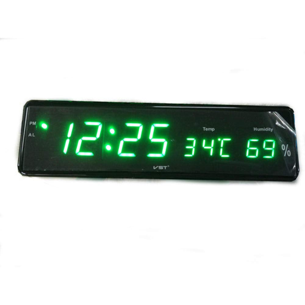 Zxhh Sveglia di Gruppo Pratico Digitale a LED da Parete Orologio Digitale con termometro e igrometro Cintura Bianca