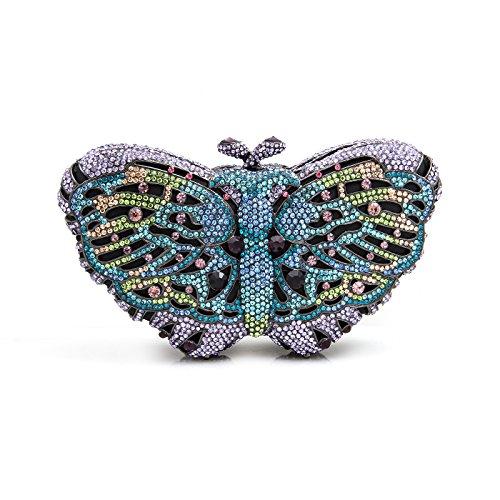 Tone Metal Crystal LuxMob Gun Clutch Butterfly fqzyvU