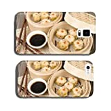 Siu Mai - Chinese pork and shrimp dumplings in bamboo steamers cell phone cover case Samsung S5