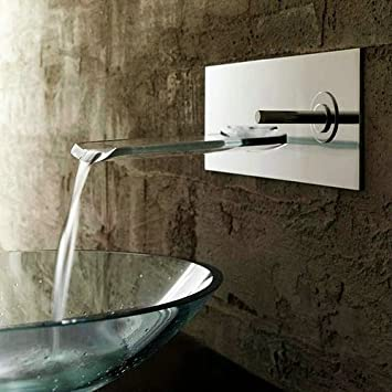 Single Handle Waterfall Ys4661 Wall Mount Bathroom Sink Faucet,chrome