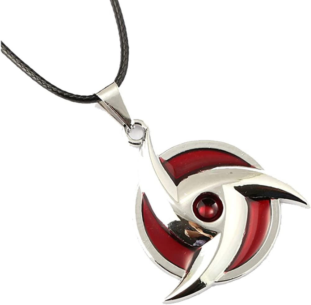 Anime Naruto Sasuke Itachi Akatsuki Cloud Pendant Necklace Jewelry