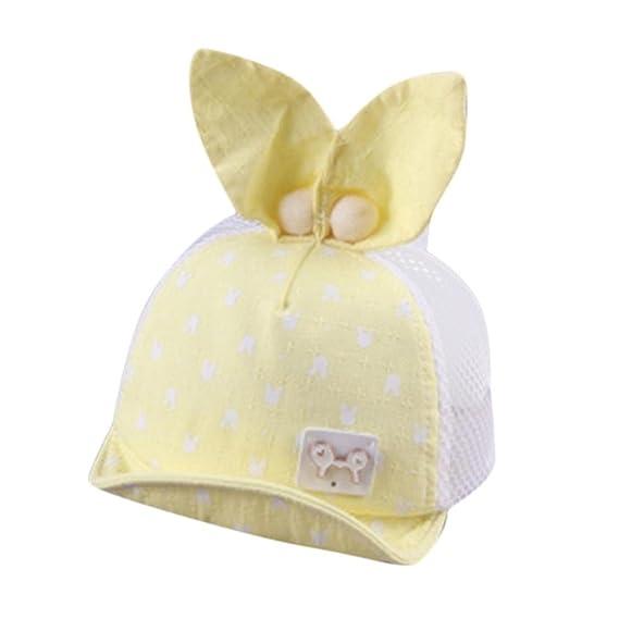 QinMM Sombrero de Malla Lindo Oreja para Niñas y Niños bebé 94588797103