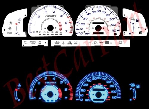(White FACE Glow GAUGES for 96-98 Toyota 4Runner )