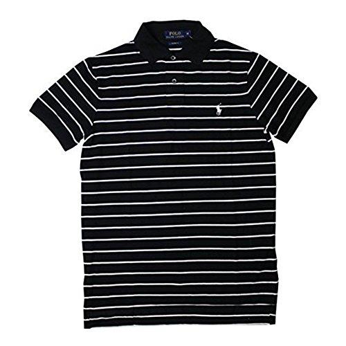 Ralph Lauren Herren Polo - Schwarz mit Weißen Streifen - Größe L