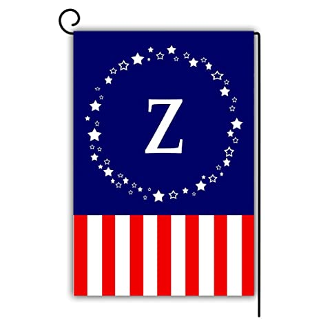 Amazon Com Artsbaba Personalized Monogram Z Initial Garden Flag